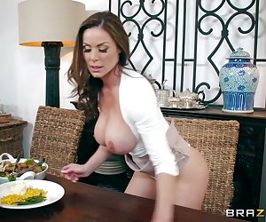 When Kendra's daughter brings her new boyfriend Jordi home for Thanksgiving, the horny milf just can't help putting his cock in her mouth and pussy the first chance she gets.