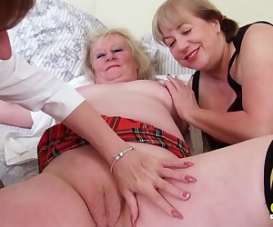 Threesome sexual party with three busty british lesbian matures and sex toys Find full length videos on our network Oldnanny.com