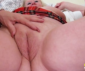 Three extremely horny mature lesbians captured while pussy licking and playing with sex toys Find full length videos on our network Oldnanny.com
