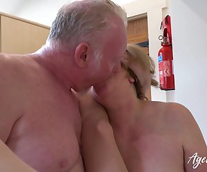 Hardcore mature action with more people involved in group sex video Find full length videos on our network Oldnanny.com