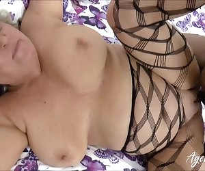 Hardcore drilling of horny mature lady with huge black cock Find full length videos on our network Oldnanny.com
