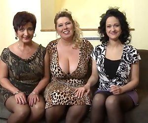 3 Hot mature women fuck college girl guy...