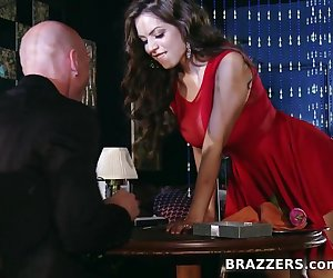 It's Yurizan Beltran and Johnny Sins' wedding anniversary, and the pair are dining at an upscale restaurant to celebrate this momentous occasion. Johnny has bought Yurizian a stunning necklace. She, on the other hand, has a much more creative gift in mind. She's going to be Johnny's complete and total sex slave for 24 hours. Anything he tells her to do, she HAS to do. Johnny wastes little time in testing that theory, having his wife prove her willingness right there in the restaurant. Once sure that his wife really is up for anything, he fucks her for what might be the best anniversary ever!