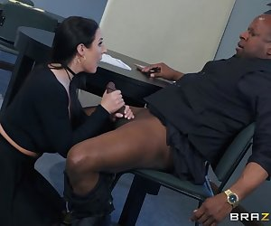 Prince is fed up getting screwed over by banking fees, so he's decided to open a new account with ZZ Banking. After signing his life away, account executive Angela is ready to give Prince his complimentary monthly blowjob. Prince is caught off guard by the extra amenities offered, especially when Angela decides to offer him the complete package - taking his package deep in her dripping wet pussy. After Prince makes a massive deposit all over Angela's face, he thinks he can get used to the ZZ Banking advantage.