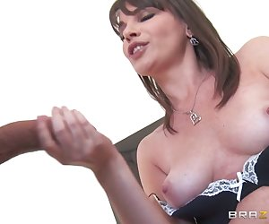 Will Powers is relaxing at his girlfriend's house, when suddenly the cougar of the den, Dana DeArmond, sinks her claws into him. She needs help moving some furniture in her bedroom. Horny as fuck since her husband left her years ago, Dana is hungry for some cock and settles for her daughter's boyfriend, who is more than happy to fill up her sweet pussy and help her bust a move—all over her jumbo tits that is!