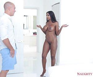 Interracial Porn With Busty Ebony Lady Diamond Jackson