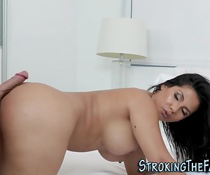 Big butt milf riding stepsons dick and giving head for cumshot