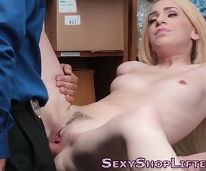 Real amateur shoplifter riding dick and getting oral for cum in mouth