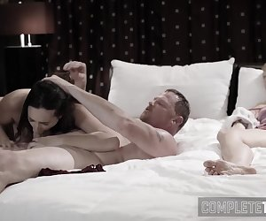 Busty taboo stepdaughter gets pussy pounded and gobbles cock