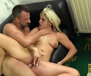 Blonde milf gets dominated for pussy banging from Pascal White