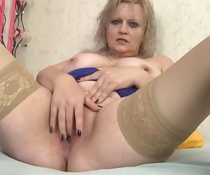 Granny Conny masterbating and showing her pussy